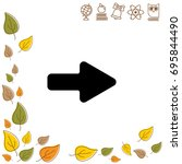 web line icon. arrow right   Shutterstock .eps vector #695844490