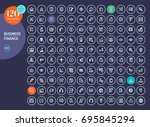 collection of line icons for... | Shutterstock .eps vector #695845294