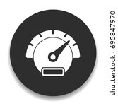 speedometer icon | Shutterstock .eps vector #695847970