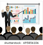 businessman in suit and tie... | Shutterstock .eps vector #695856106