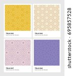 seamless vector pattern... | Shutterstock .eps vector #695857528