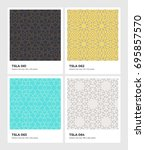 seamless vector pattern... | Shutterstock .eps vector #695857570