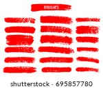 painted grunge stripes set. red ... | Shutterstock .eps vector #695857780