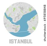 minimalistic istanbul city map... | Shutterstock .eps vector #695858848