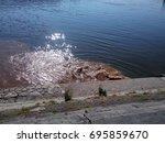 Water Pollution. Brown Sewage...