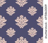 damask seamless pattern... | Shutterstock . vector #695863009