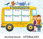 template school timetable for... | Shutterstock .eps vector #695866183
