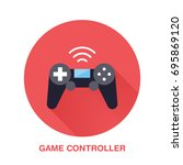 game controller flat style icon.... | Shutterstock .eps vector #695869120