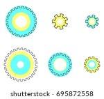 set flat line gear vector    Shutterstock .eps vector #695872558