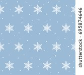 snowflake seamless pattern... | Shutterstock .eps vector #695874646