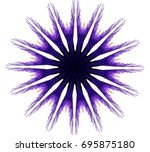 ornament on a white background. ... | Shutterstock . vector #695875180