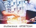successful business people...   Shutterstock . vector #695875264