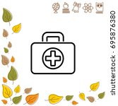 web line icon. medical case. | Shutterstock .eps vector #695876380