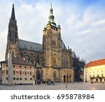 prague. saint vitus cathedral | Shutterstock . vector #695878984