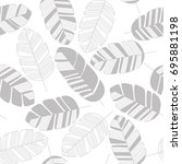 seamless pattern with gray... | Shutterstock .eps vector #695881198