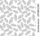 seamless pattern with tropical... | Shutterstock .eps vector #695881384