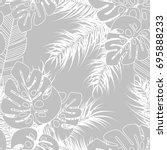 summer seamless tropical... | Shutterstock .eps vector #695888233