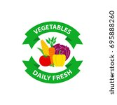 organic vegetables daily fresh... | Shutterstock .eps vector #695888260
