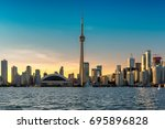 beautiful toronto skyline  ...   Shutterstock . vector #695896828
