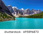 beautiful turquoise lake of the ... | Shutterstock . vector #695896873