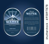 drinking water label | Shutterstock .eps vector #695897878