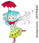 vector illustration of cute... | Shutterstock .eps vector #69590860