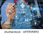 medical. | Shutterstock . vector #695909893