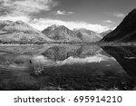 nu bra valley kashmir | Shutterstock . vector #695914210