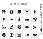 set of 20 editable kin icons....