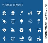 set of 20 editable baby icons....