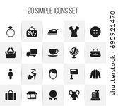 set of 20 editable shopping...