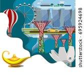 travel infographic  amazing ...   Shutterstock .eps vector #695924698