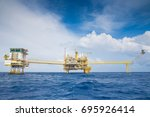 oil and gas production and... | Shutterstock . vector #695926414