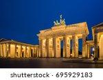 The Brandenburg Gate At The...