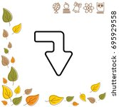 web line icon. arrow right  ...   Shutterstock .eps vector #695929558