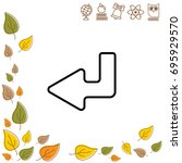 web line icon. arrow down   ...   Shutterstock .eps vector #695929570
