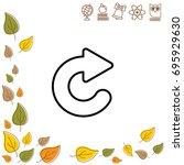 web line icon. circular arrow   Shutterstock .eps vector #695929630