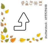 web line icon. arrow right up   Shutterstock .eps vector #695929648