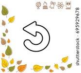 web line icon. circular arrow   Shutterstock .eps vector #695929678