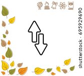 web line icon. arrows up down   Shutterstock .eps vector #695929690