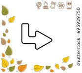 web line icon. arrow up   right   Shutterstock .eps vector #695929750
