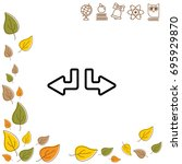 web line icon. arrows  down...   Shutterstock .eps vector #695929870