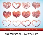 collection of hand drawn sketch ... | Shutterstock .eps vector #69593119