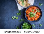 traditional indian british dish ... | Shutterstock . vector #695932900