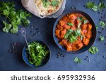 traditional indian british dish ... | Shutterstock . vector #695932936