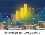 business man on digital stock... | Shutterstock . vector #695935978