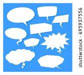 comics bubbles on blue...   Shutterstock .eps vector #695937556