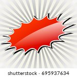 illustration of red star burst...