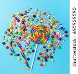 tasty appetizing party... | Shutterstock . vector #695939590