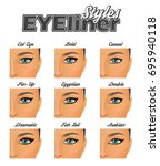 make up information chart... | Shutterstock .eps vector #695940118